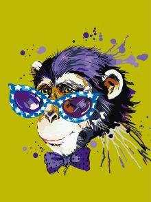 Картина по номерам «Disсo Monkey» 30x40 см