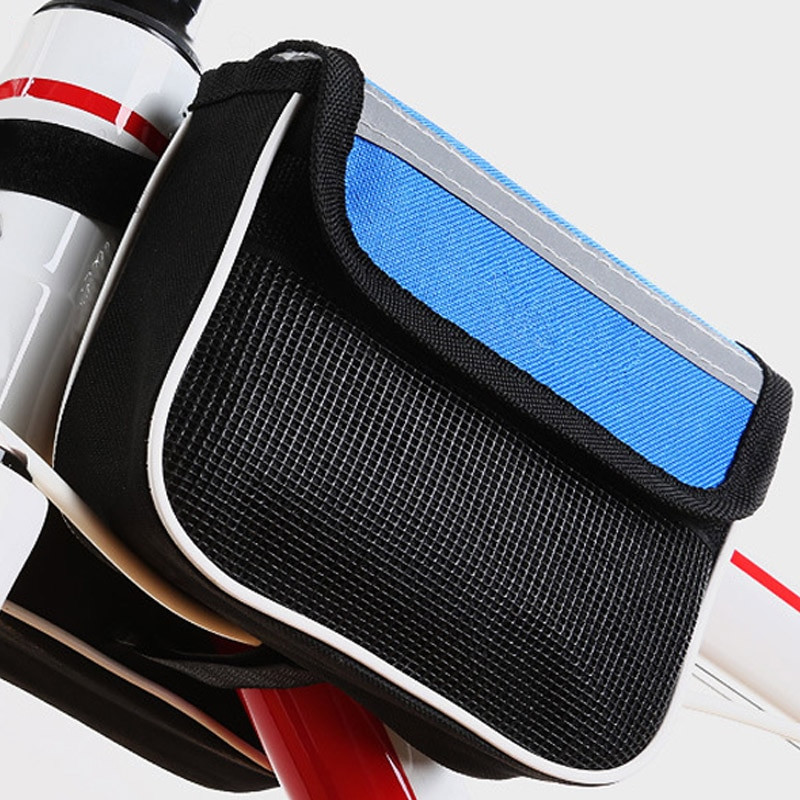 Двойная велосипедная сумка с водоотталкивающим эффектом. Цвет Синий