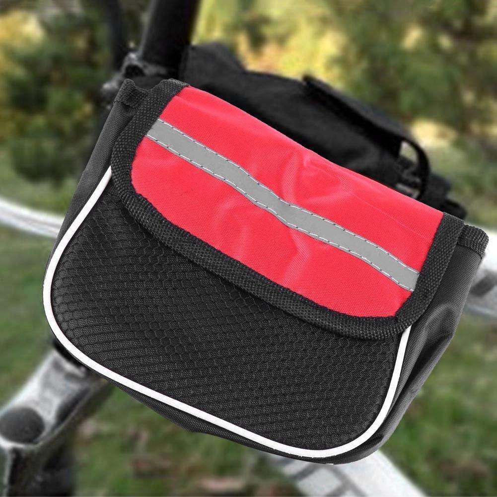 Двойная велосипедная сумка с водоотталкивающим эффектом. Цвет Красный