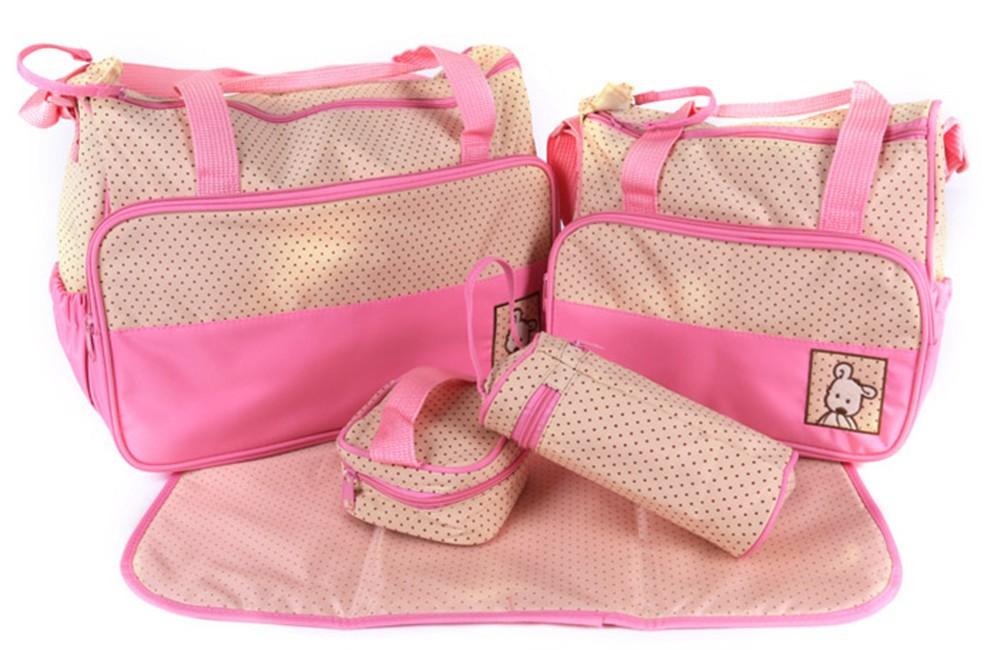 Сумка для мамы, набор из 5 предметов. Цвет Розовый