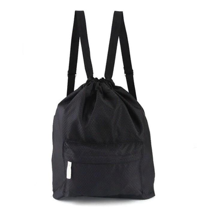 Пляжная сумка-рюкзак с отделением для мокрых вещей, 30х40 см. Цвет  Чёрный
