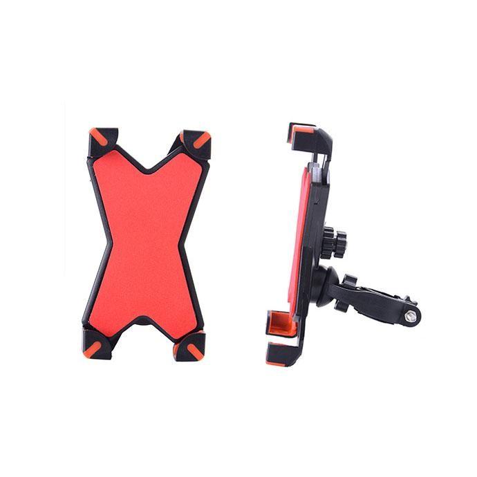 Универсальный велосипедный держатель для смартфона Phone Holder PH-666, 360°. Цвет Красный