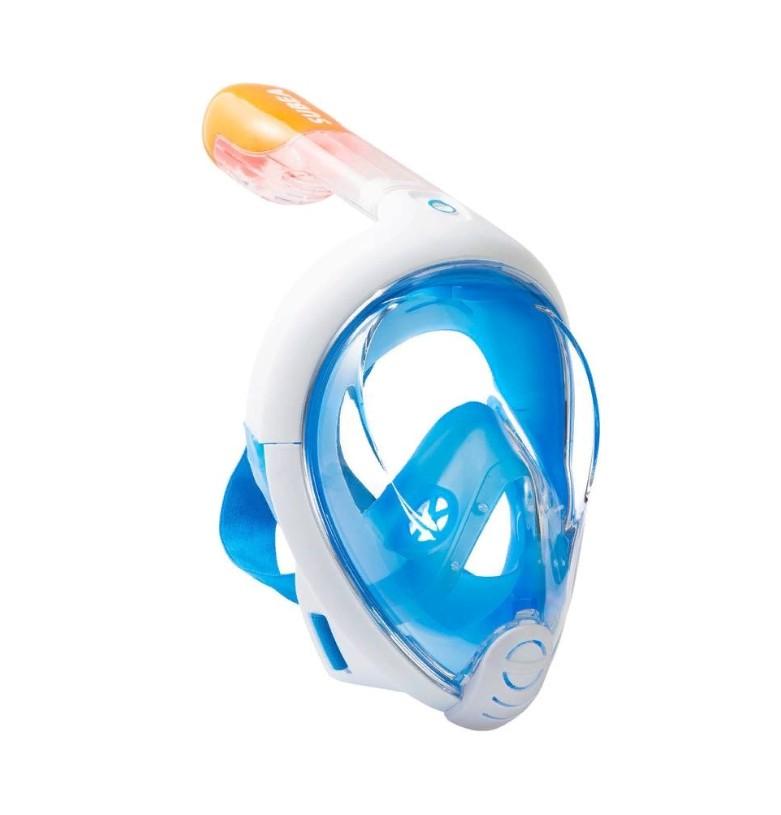 Маска для снорклинга с креплением для экшн-камеры Freebreath. Цвет  Голубой  Размер  L/XL