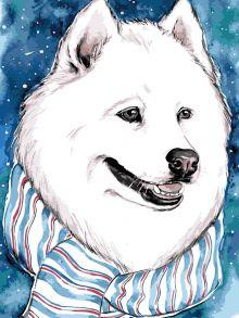 Картина по номерам «Белый друг» 30x40 см