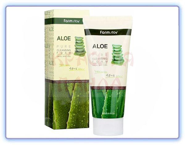 Очищающая пенка с экстрактом алоэ FarmStay Aloe Pure Cleansing Foam