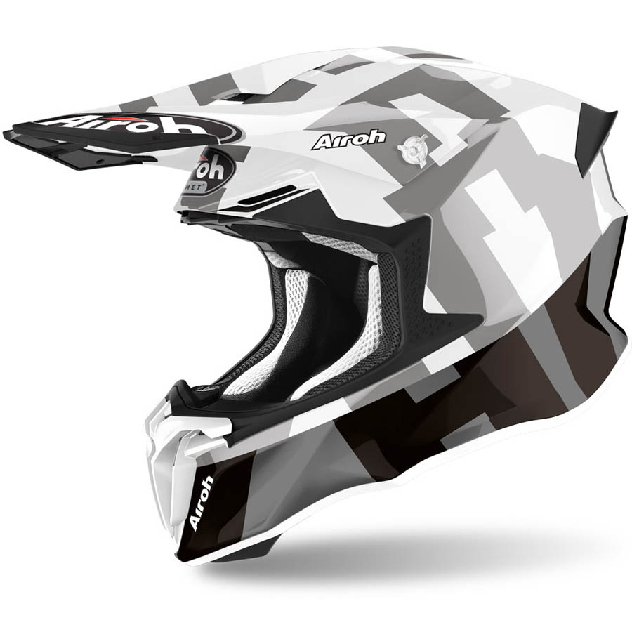 Airoh Twist 2.0 Frame Grey Gloss шлем внедорожный