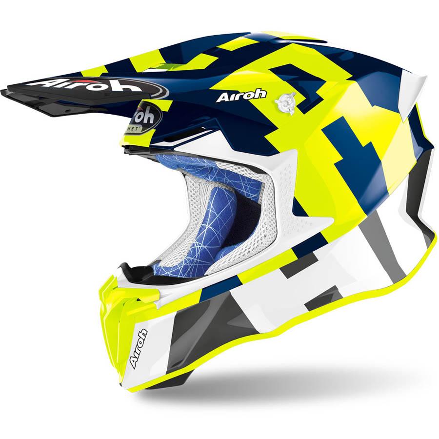 Airoh Twist 2.0 Frame Blue Gloss шлем внедорожный