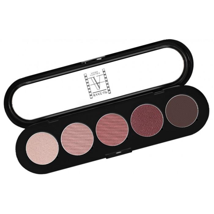 Make-Up Atelier Paris Palette Eyeshadows T10 Brown mauve tones Палитра теней для век №10 сиренево-коричневые тона
