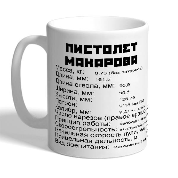 """Кружка """"Пистолет Макарова"""""""