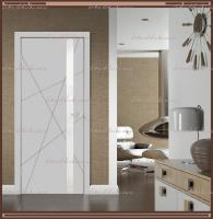 Межкомнатная дверь SCANDI S Z1 Остекленное Эмаль RAL 7040 Светло-серая, стекло - ЛАКОБЕЛЬ Белое :