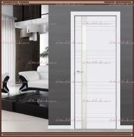 Межкомнатная дверь SCANDI N Z1 Остекленная, Эмаль RAL 9003 Белая, стекло - ЛАКОБЕЛЬ Белое :