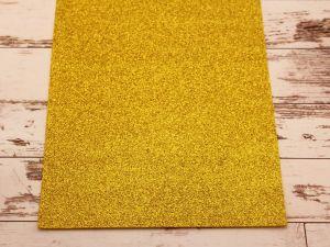 "`Фоамиран ""глиттерный"" Китай, толщина 2 мм, размер 20x30 см, цвет желтый"