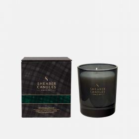 """Большая шотландская ароматическая свеча """"Хогманай"""" в оригинальном стеклянном бокале для виски. HOGMANAY WHISKY GOBLET."""