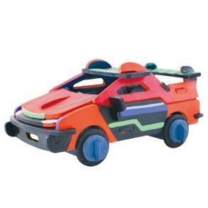 3D-пазл-раскраска «Гоночная машина»