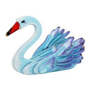 3D-пазл-раскраска «Лебедь»