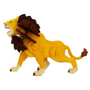 3D-пазл-раскраска «Лев»