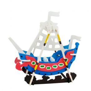3D-пазл-раскраска «Кораблик»