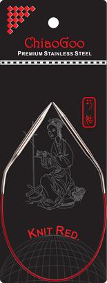СПИЦЫ КРУГОВЫЕ CHIAOGOO SS KNIT RED (30 СМ)