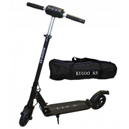 Электросамокат Kugoo S3 Черный + Сумка