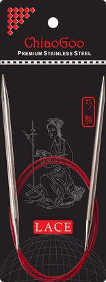 СПИЦЫ КРУГОВЫЕ CHIAOGOO SS RED LACE (80 СМ)