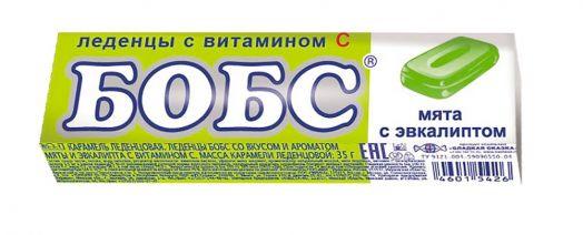 Бобс 35г мята-эвкалипт леденцы 24*12 (BS-3-1)