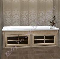 Экран под ванну с откидными дверками длиной 150/170 см без откидной торцевой дверкой. Цвет- выбеленная береза.