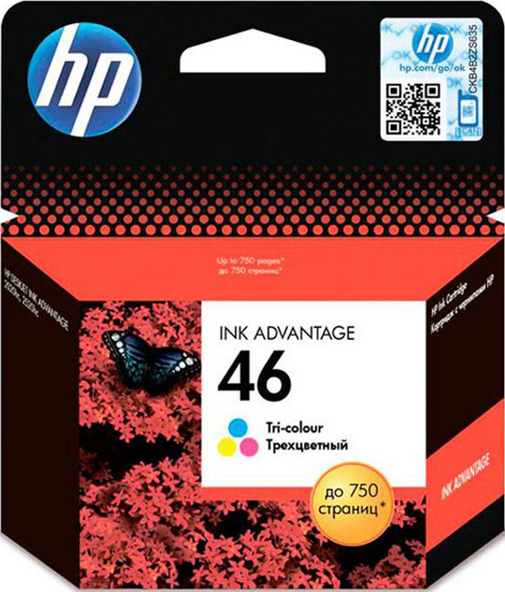 Картридж HP CZ638AE цветной, № 46