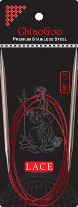 СПИЦЫ КРУГОВЫЕ CHIAOGOO SS RED LACE (100 СМ)