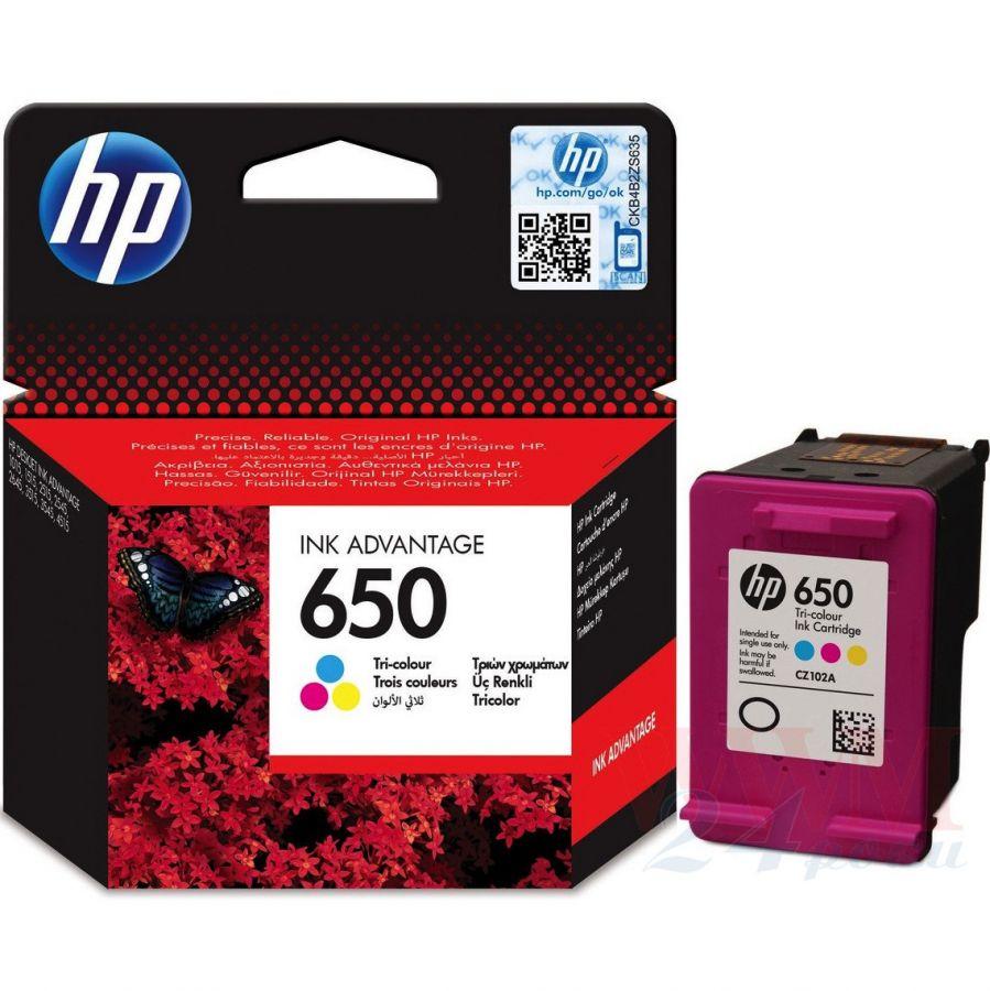 Картридж HP CZ102AE цветной, № 650
