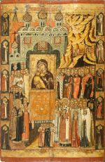 Икона Сретение Владимирской Иконы Пресвятой Богородицы