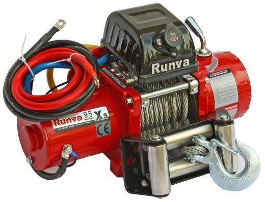 Лебёдка электрическая 12V Runva 9500 lbs 4350 кг короткий барабан