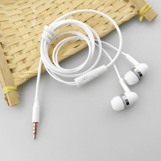 EZRA EP08 Белые наушники вакуум - гарнитура