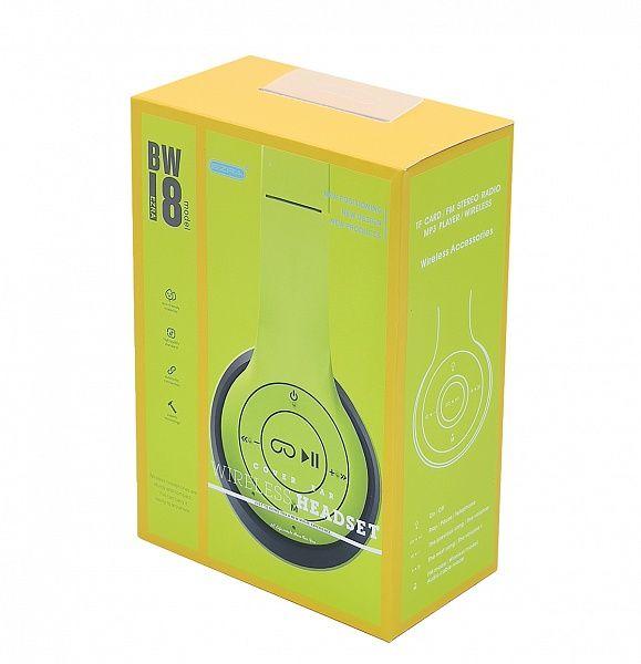 EZRA BW18 Желтые наушники большие - гарнитура (Bluetooth)