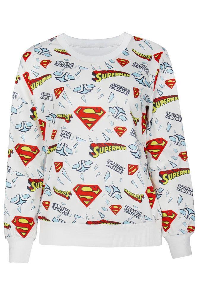 Белая толстовка Супермен
