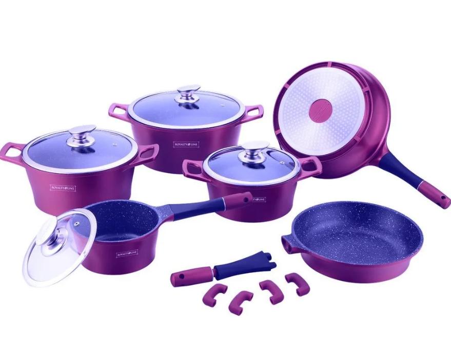 Набор кастрюль с мраморным покрытием Royalty Line RL-ES1014M  Purple