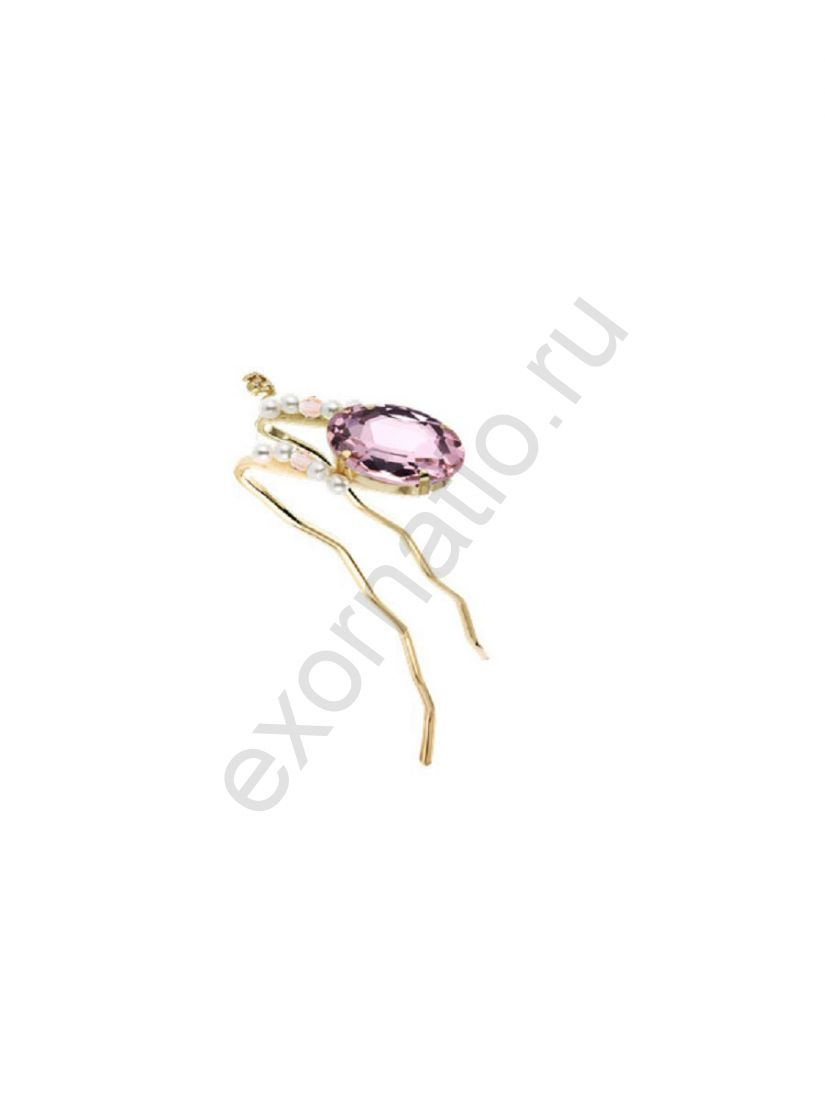 Шпилька Evita Peroni 41130-275. Коллекция Beads and Pearls Pink