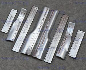 Накладки на пороги из 8шт., сталь, вариант 2