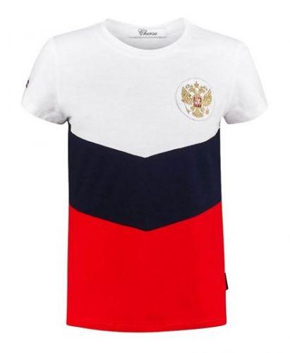 "Футболка ""Триколор"" с шевроном Chersa"