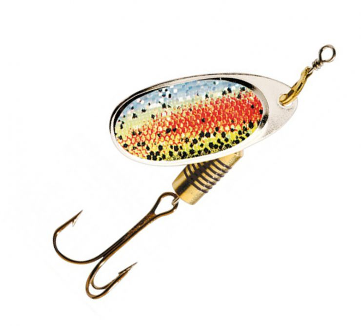 Блесна DAM Effzett Nature Spinner 3D Rainbow Trout