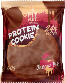 Печенье высокобелковое глазированное Вишня Cookie от Fit Kit 50 гр