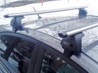 Багажник на крышу Nissan Juke, Евродеталь, аэродинамические дуги