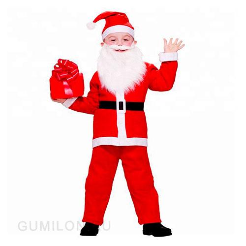 Детский костюм Санта Клауса для мальчиков, 10-13 лет
