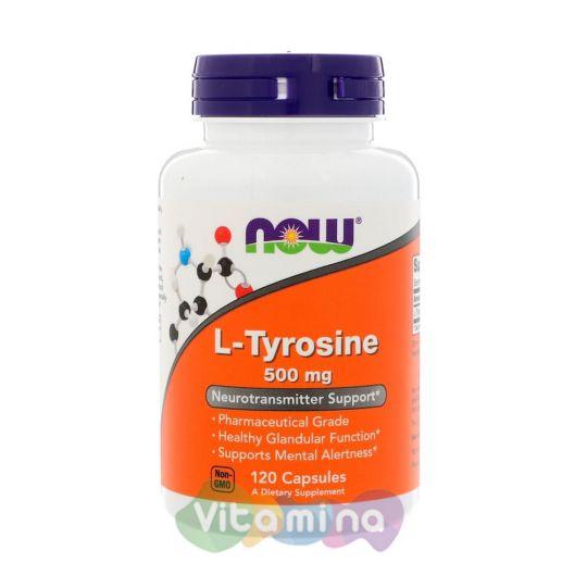 L-тирозин, 120 капсул.