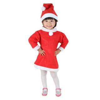 Красный костюм снегурочки для девочки (Возраст 6-9 лет)