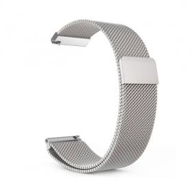 Плетеный ремешок для Amazfit Bip магнитный (серебро)