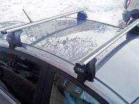 Багажник на крышу Hyundai Solaris (c 2017г, sedan), Евродеталь, аэродинамические дуги