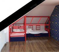 Кровать Домик угловой Fairy Land Мансарда №2 (для двоих детей)