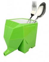 Органайзер для столовых приборов в форме слоника Kitchen Drain device, зелёный