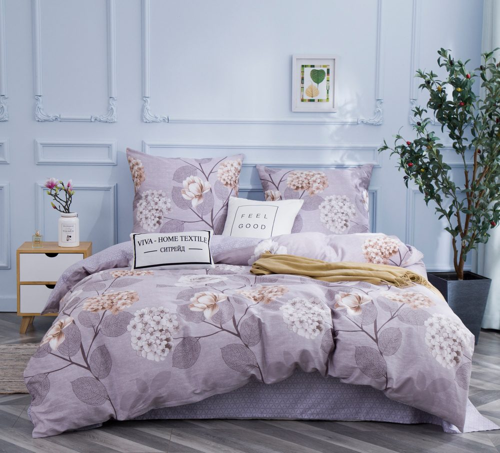 Комплект постельного белья  1.5 спальный Сатин C346