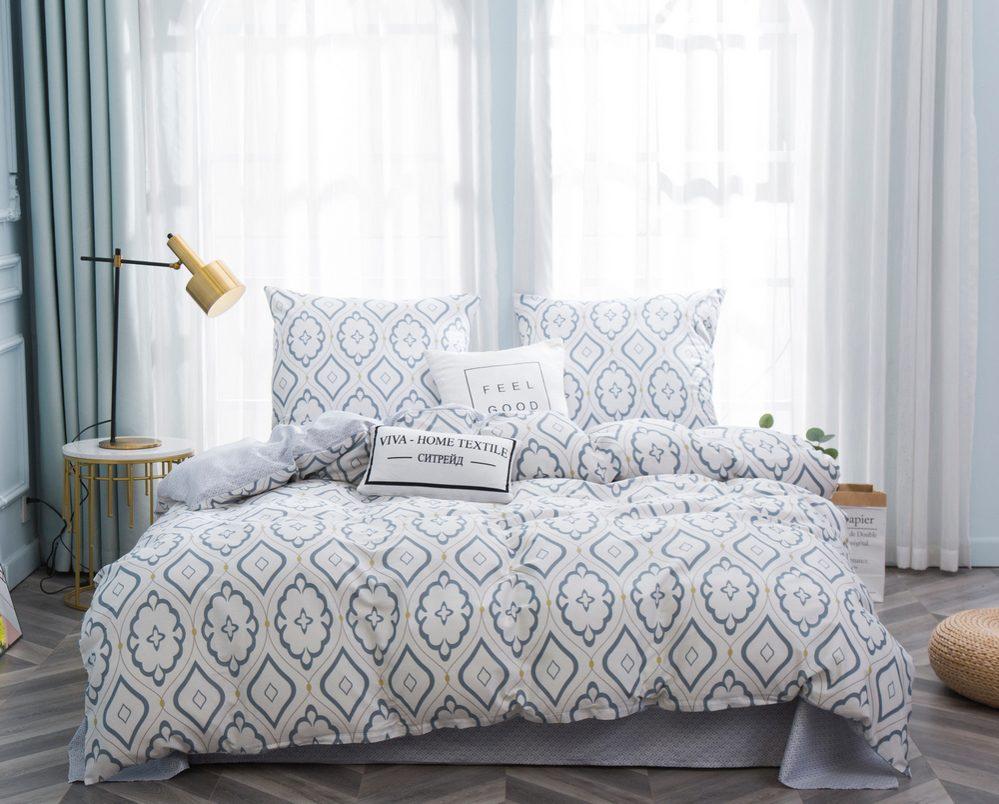 Комплект постельного белья 1.5 спальный Сатин C348